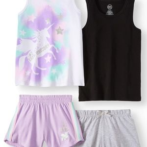 Other - Summer Tank Tops and Shorts, 4-Piece Mix & Match